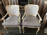 Pair, Vintage, Cane Back Chairs
