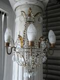 Pair, Vintage Beaded Italian Sconces